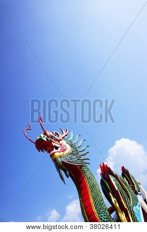 dragon statue and sky