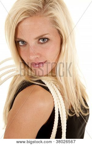 Woman Rope Shoulder Looking