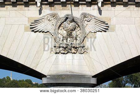 Imperial eagle of the bridge of I�na  Paris France