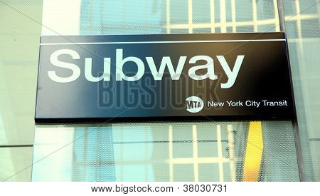 New York Subway Sign