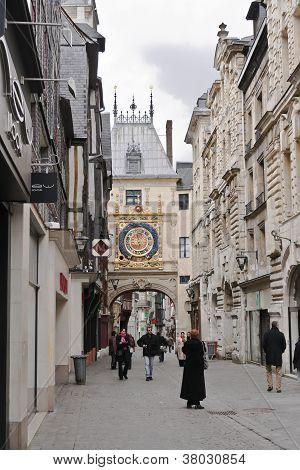Le Gros Horloge; Rouen, France