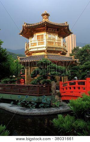 Pavilion in Nan Lian Garden, Hong Kong.