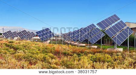 Solar power units plant