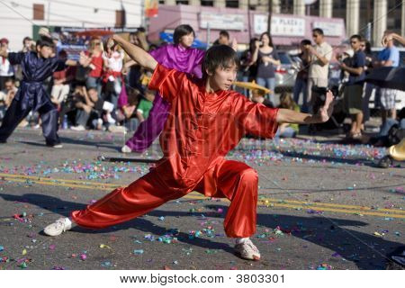 Chinese New Year Parade Wushu Practitioner