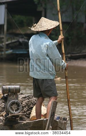 Mekong river  fisherman