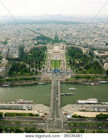 Beautiful Places Of Paris City - Jardins Du Trocadero