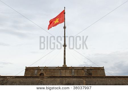 Vietnam Flag On Flag Pole