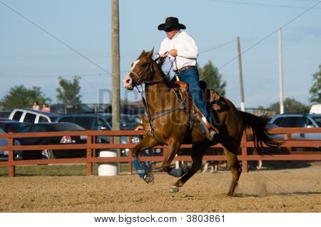 Barrel Racing Demonstration At Allen County Fair Lima Ohio