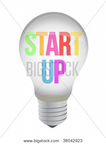 Start Up Lightbulb Illustration Design
