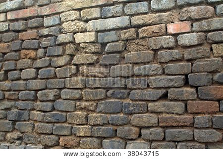 Gray Bricks Wall In China's Rural Areas