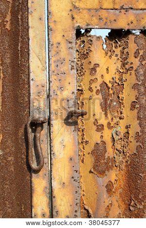 Patrón en la puerta de hierro