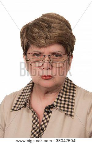 Portrait Of Strict Woman
