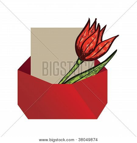 Envelope With Tulip