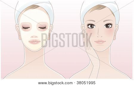 Beautiful Spa Woman With A Beauty Mask