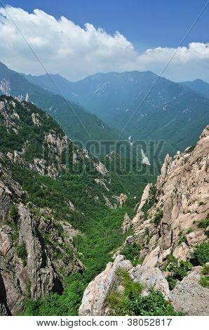Panoramic View Of National Park Seoraksan, South Korea