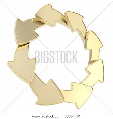Copyspace Empty Arrow Round Frame Isolated