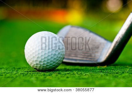 Golf ball on the field.