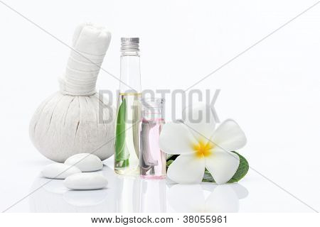 view of spa theme object on white background