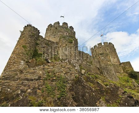A Low Angle Conwy Castle Shot, Wales