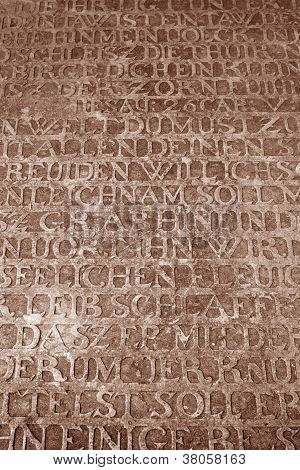 Medieval Engraved Stone Plate