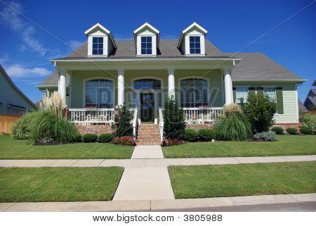 Casa de americano de estilo vitoriano