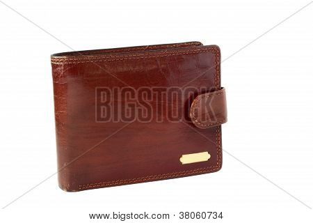 Brown Billfold Isolated