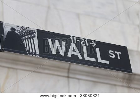 Wall Street Sign ( Manhattan, New York City
