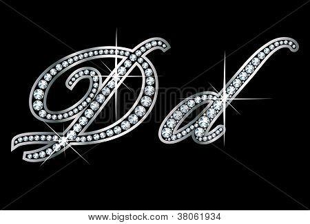 Script Diamond Bling Dd Letters