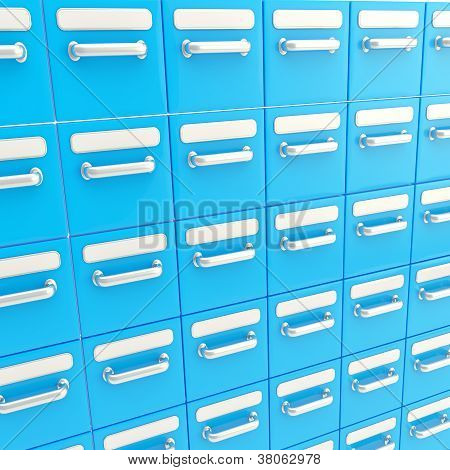 Accurate Infinite Rows Of Drawers As Business Background