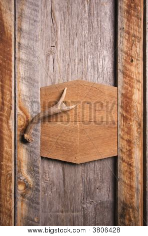 Rustic Cabinet With Antler Handle