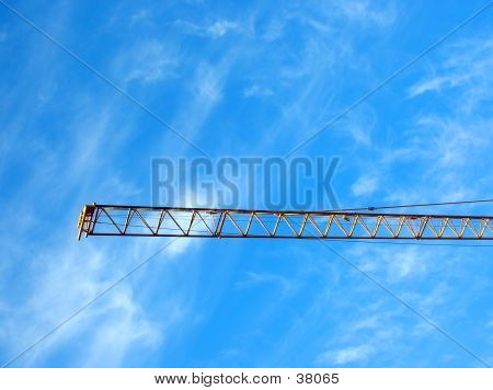 Crane's Gibbet On Blue Sky