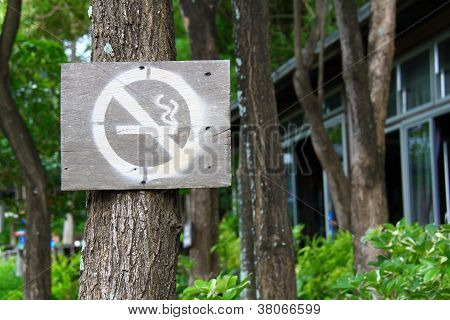 No Smoking Sign In Park