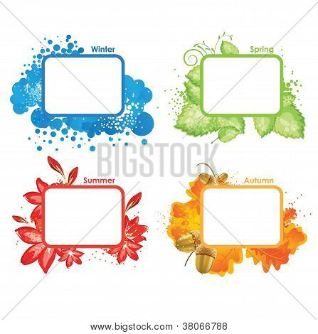 Four Seasons, Vector Illustration