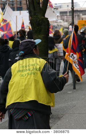 tibetischen Freiheit Protest, Vancouver, Kanada (März 22. 2008)