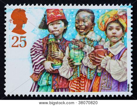 Postage Stamp Gb 1994 Mary And Joseph With Infant Jesus