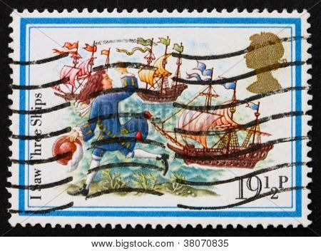 Postage Stamp Gb 1982 Boy And Three Ships