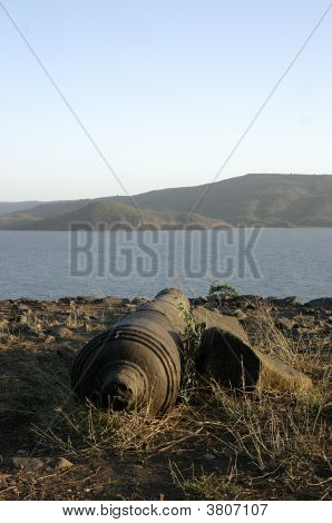 A cannon At The Top
