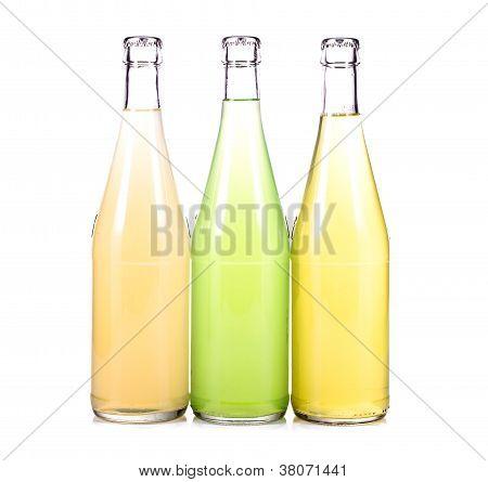 Three Bottles Of Fresh Lemonade