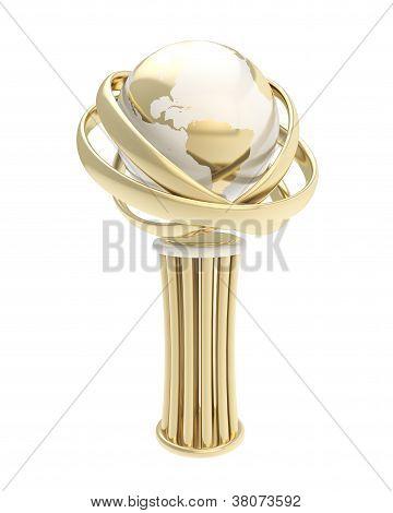 Prêmio prêmio estatueta Copa isolada no branco