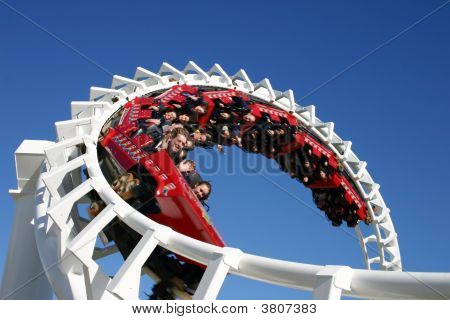 Rollercoaster Ride, Seaworld Coast, Australia