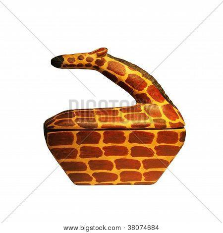 Giraffe Figurine Box Container