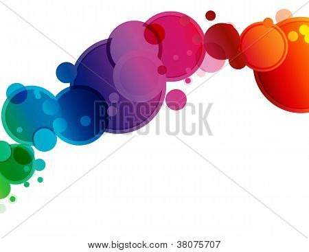 Abstract Spectrum Circle Background