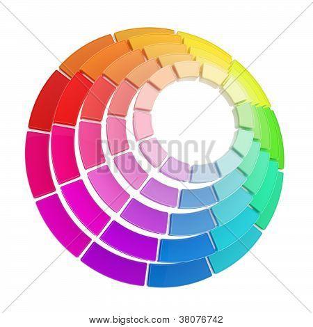 Color Range Spectrum Circle Round Palette Composition