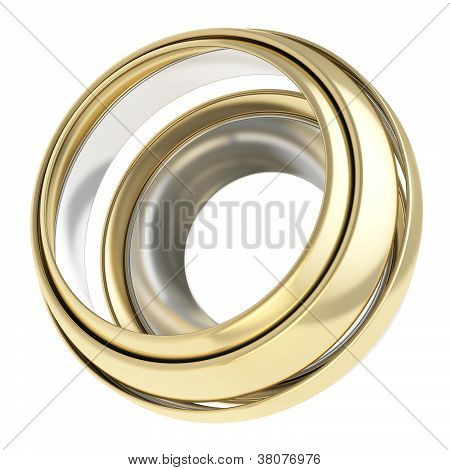 Circular Round Copyspace Frame Abstract Background