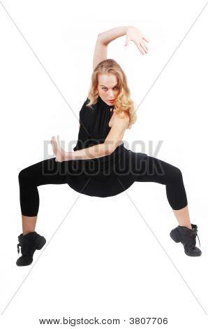 Mujer flexible ejercicio