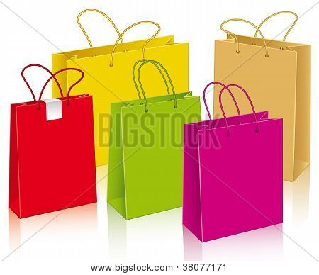 Three Bags Of Paper And Labels