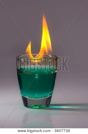 Glas auf Feuer