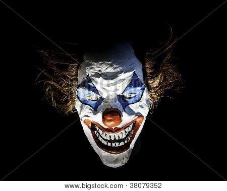 Dummy Clown Scary Face