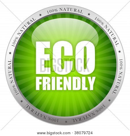 Eco friendly glass icon