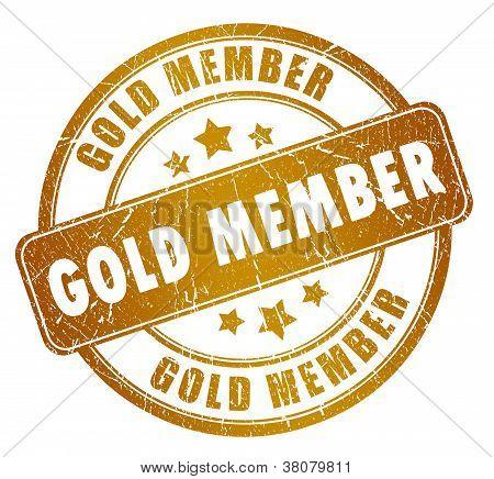 Selo do membro de ouro